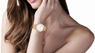 Novo ženski Sat Fashion Geneva Quartz Gold / White