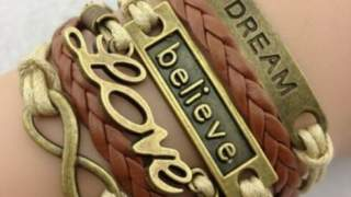 Diy Infinity Love Dream Belive Bronzena Narukvica