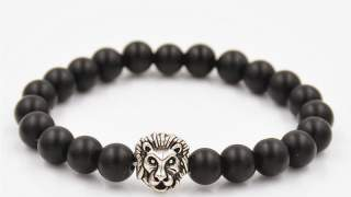 "narukvica ""lava Stone"" Crna-siva Lava Bracelet"