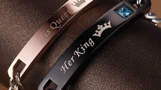 His Queen & Her King Set Od Dvije Narukvice  Bracelet