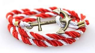 "Narukvica ""sidro"" Bracelet Crveno Bijela"