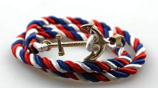 """narukvica """"sidro"""" Bracelet Crvena,plava, Bijela"""